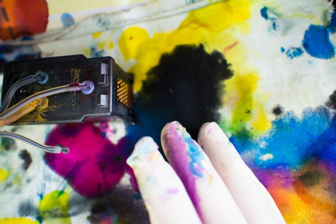 Printer ink smearing