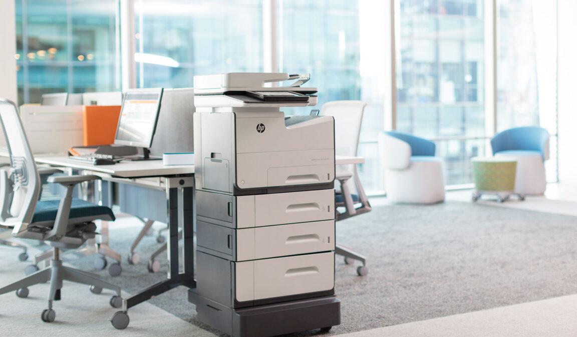 HP multi functional printer in office setting