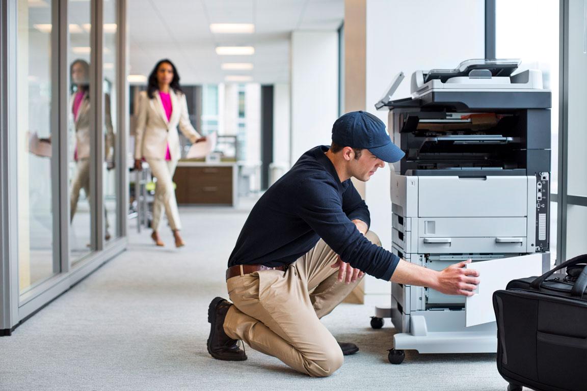 multi-function printer repair tech